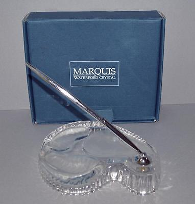 Marquis Waterford Crystal - Golf Course Sandpit Desk Tidy With Pen - Boxed.