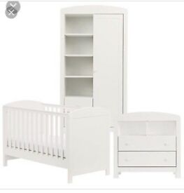 Nursery Furniture Set plus cotbed Mattress- immacutale condition
