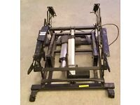 Dual motor for reclining chair and frame
