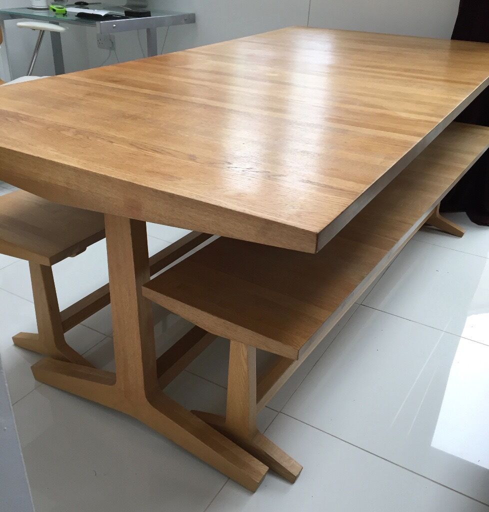 Habitat Parker Dining Table And Benches