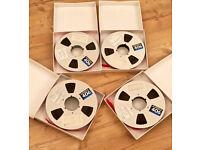 "4 x Ampex 406 Professional Audio Reel To Reel Tapes (10.5 "" Reel, 1"" Tape)"
