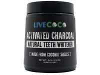 LiveCoco Activated Charcoal for Teeth Whitening, Natural Teeth Whitening using Coconut Shells, 80g