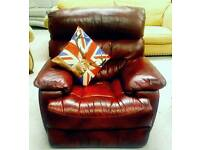 Top quality real leather electric Recliner chair in vgc can arrange delivery