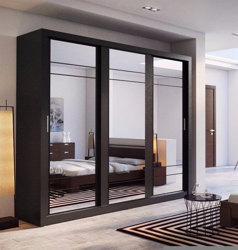 mirror wardrobe. brand new 2 or 3 door sliding mirror wardrobe with shelves, hanging rails cupboard in t
