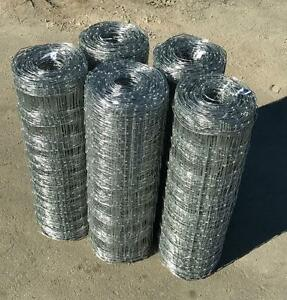 NEW 330FT ROLLS OF WELDED WIRE FIELD FENCE 4 FT GALVANIZED STEEL CLASS 1 COATING