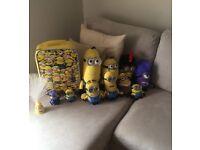 Minion bundle deal, 2talking minions, minion teddy so, suitcase and night light