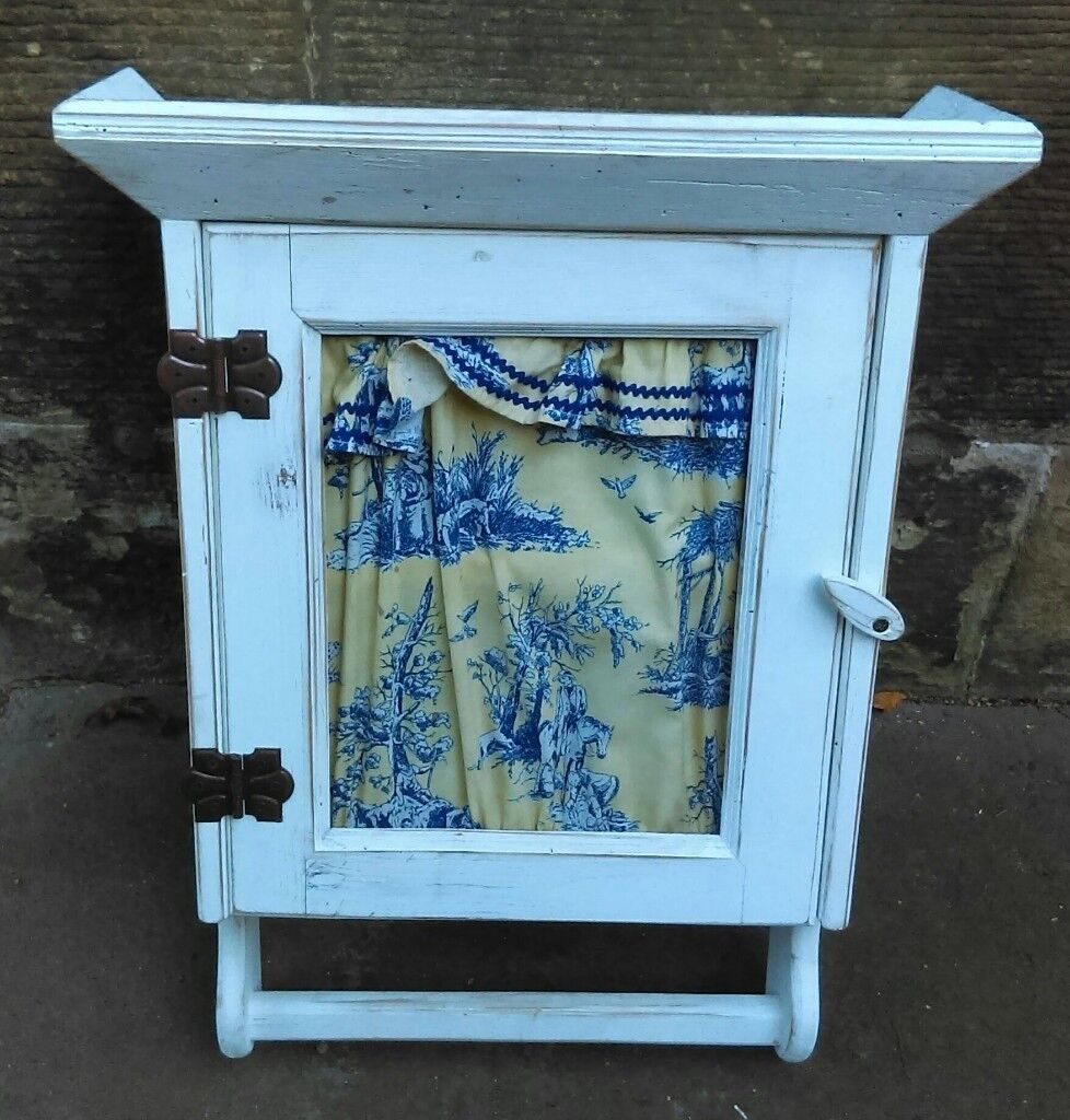 Two shelved wooden bathroom cabinet