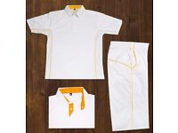 Cricket white kits (Pack of 14)