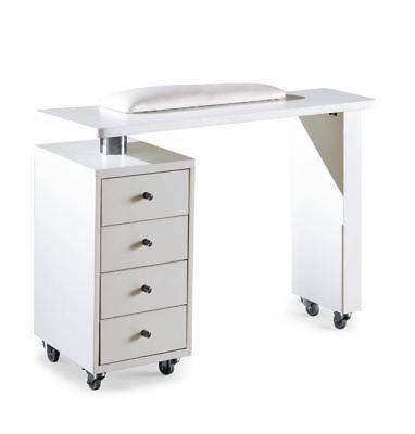 Urbanity Rio professional nail station salon manicure polish table desk white