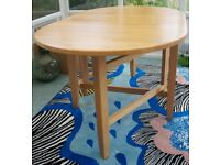 Wooden folding dining table, John Lewis, good condition
