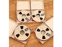 6 x Ampex 406 Professional Audio Reel To Reel Tapes (10.5 inch Reel Tape)