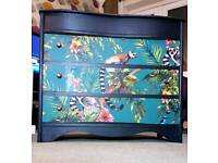 Vintage retro chest of drawers upcycled