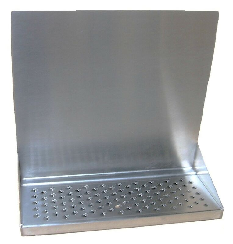 """Draft Beer Tower Wall Mt Drip Tray 15""""  Long w/ s.s. Grill & Drain # DTWM15SS"""