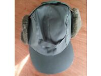 New Mens Green Waterproof Trapper Hat with Ear Flaps