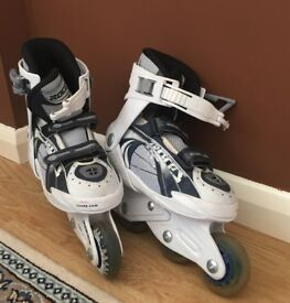 Inline skates with 6 pieces roller skating protection pads
