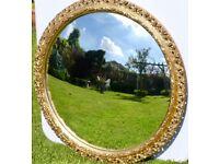 Large convex glass mirror