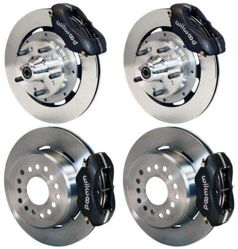 "Wilwood Disc Brake Kit,70-73 Ford,mercury,12"" Rotors,black Calipers"
