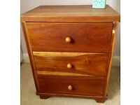 Hand made Cherrywood table and chest of drawers (matching)