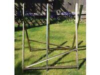Heavy Duty Folding Log Cutting Saw Horse Trestle Stand For Wood Logs Holder Grip