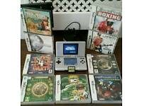 Nintendo ds with games
