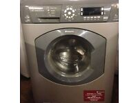 87 Hotpoint WDD960 7kg 1600Spin Silver LCD SensorDrying Washer/Dryer 1 YEAR GUARANTEE FREE DEL N FIT