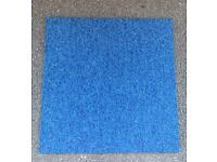 350 x Premium Blue Heuga Carpet Tiles 87.5 SQM £437.50 BRISTOL