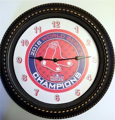 Glass Boston Red Sox Clock (BOSTON RED SOX 2018 WORLD SERIES CHAMPS. - 12