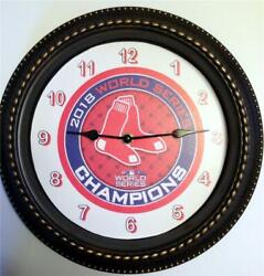 BOSTON RED SOX 2018 WORLD SERIES CHAMPS. - 12 WALL CLOCK