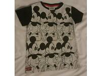 Next boys black and grey Mickey mouse t-shirt age 3-4 years