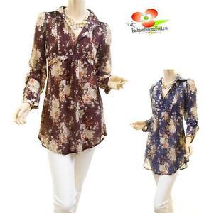 Victorian-Renaissance-Faux-Silk-Retro-Floral-Boho-Tunic-Peasant-Blouse-Shirt-Top