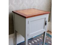Small bedside cupboard, upcycled, vintage.