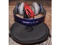 Dr Dre Beats Solo HD Metallic Dark Blue Wireless Headphones