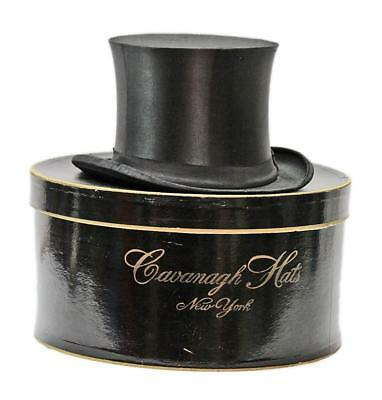 Antique Szczowinsky Black Silk Collapsible Men's Top Hat Cavanagh Box Steampunk - Collapsible Top Hats