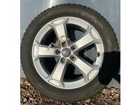 "4x NEW (ex demo) 17"" Genuine Audi Q2 SQ2 alloy wheels +Bridgestone winter tyres Q3 VW Caddy CAN POST"