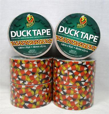 Lot of 6 Rolls Duck Brand Duct Tape Candy Corn Crafts Halloween 10 yds B-9](Halloween B Roll)