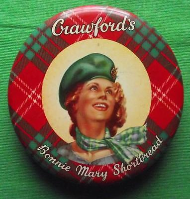 c1950 Edinburgh Crawford Shortbread Bonnie Mary Tartan Tartanware Tin B