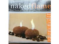 The Naked Flame Real Flame Gel Burner Large Pebble for Indoor or outdoor use Garden gift Wedding