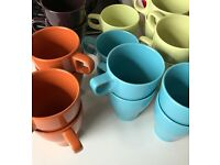 BEAUTIFUL!!! COLOURFUL!!! UNIQUE!! DESIGNER STYLE & GOOD QUALITY Mugs!!! ONLY £5!!! SET OF 5 x3 Sets