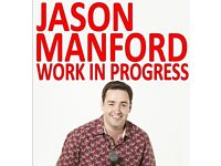 2 tickets for Jason Manford Work in progress at the Del la Warr pavilion Bexhill-on-Sea