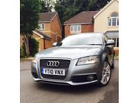 AUDI A3 SLINE GUN METAL GREY LOW MILEAGE WELL MAINTAINED TINTS FSH VERY CLASSY CAR
