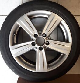 Mercedes Benz E Class 17inch Alloy 5 spoke wheels and winter tyres