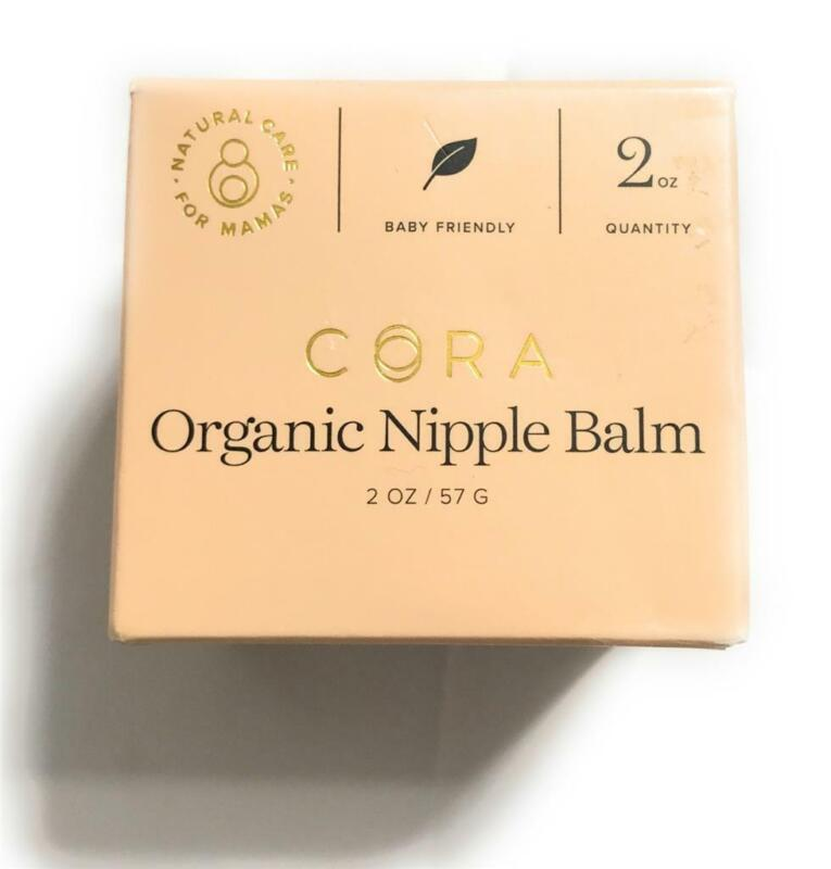 New Cora Organic Nipple Balm, Baby Friendly, Natural Care For Mommy