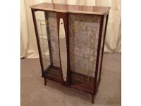China Cabinet Retro 1950's Display Cabinet Unit Vintage See Delivery