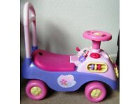 Disney Princess musical ride on/push along car