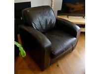 Leather Armchair/Easy Chair