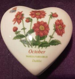 Portmeirion Heart Shaped Trinket Box.