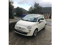 2008 FIAT 500 Lounge 1.2 petrol three door white Manual *low miles*not VW Audi , Mercedes, seat