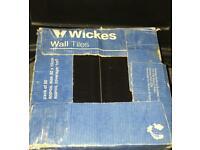 **New** Box of 50 Black Gloss / Glazed Subway Brick Metro Tiles