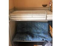 Bunk Beds with with lower seating that coverts to double bed