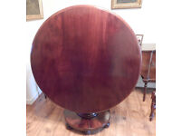 Superb Large Victorian Mahogany Tilt top dining Table